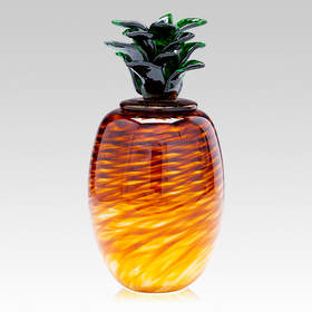 Pineapple Cremation Urn, Glass Pineapple Cremation Urn, Glass Urns, Memorial Urns, Funeral Urns