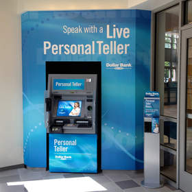Dollar Bank introduces Personal Teller Machines: North Hills Office Lobby