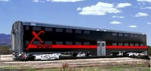Rendering of a Vegas X Train car