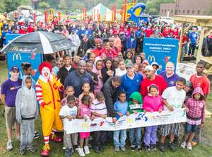McDonald's, KaBoom!, playground, volunteers, fun play
