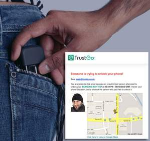 mobile security, stolen phones, mobile security app, TrustGo candid camera feature
