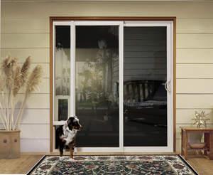 JELD-WEN(R) Vinyl Sliding Patio Door with integrated pet door