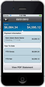 Workday for iPhone(R) Mobile payslips