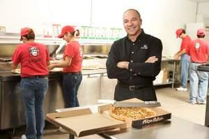 Latino pizza brand