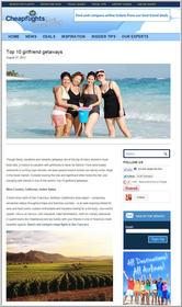 Cheapflights.com Top 10 Girlfriend Getaways