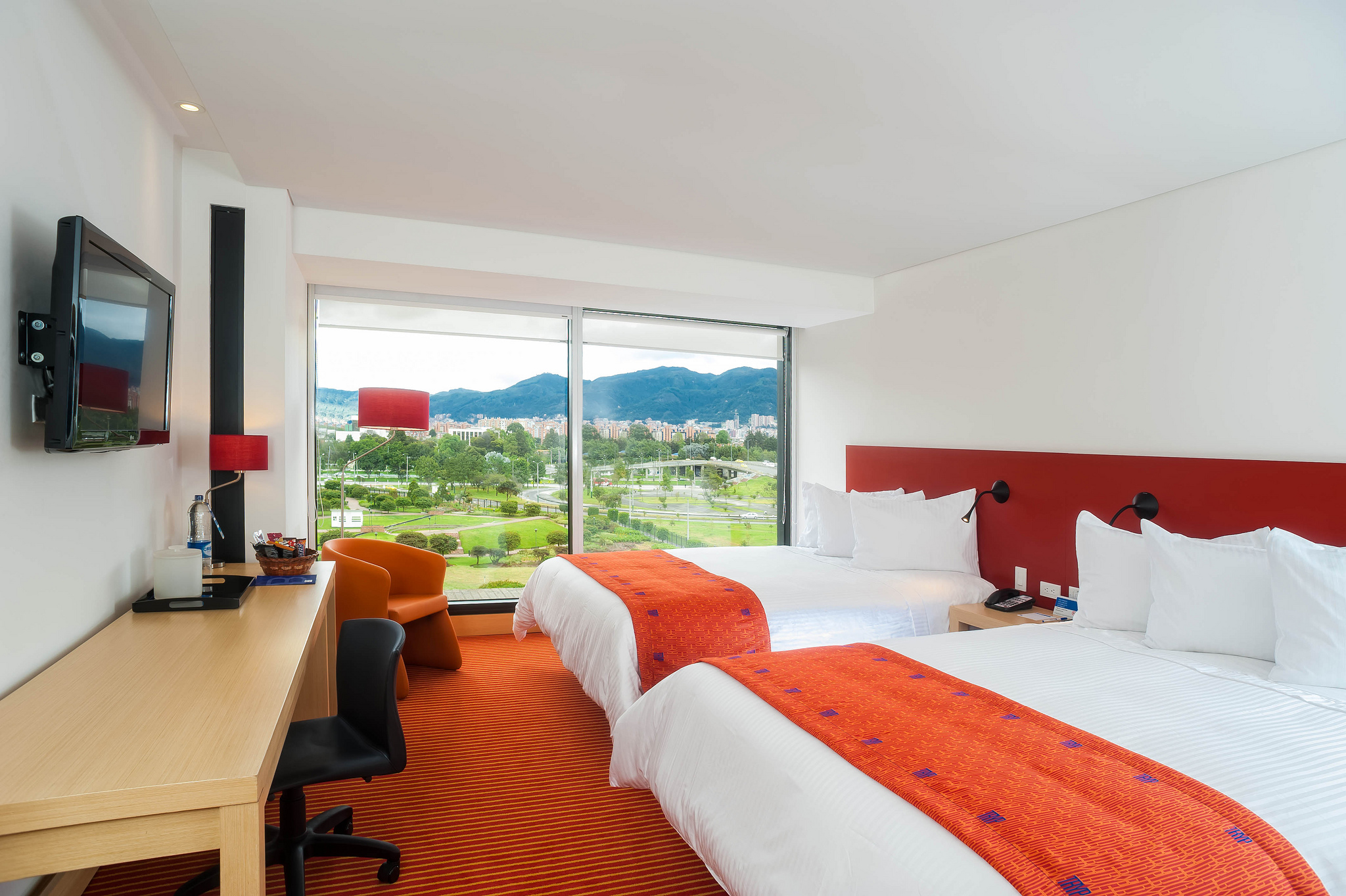 A guest room at TRYP by Wyndham Bogota Embajada