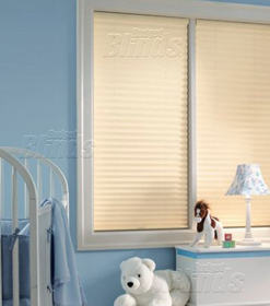 Cordless cellular shades eliminate potentially hazardous operation cords