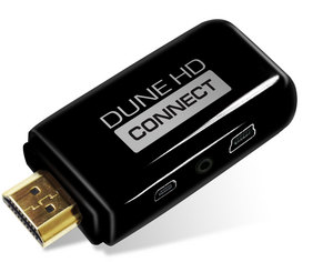 Dune HD Connect is the world's smallest Full HD media player, turning any screen into a Smart TV.