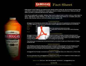 Kilbeggan Irish Whiskey Fact Sheet