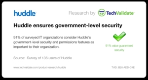 Huddle ensures government-level security.