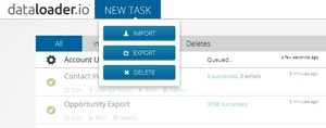 Easily import, export and delete data in Salesforce.com from a simple Web interface