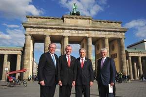 Ronald Reagan Plaque Unveiling at the Brandenburg Gate in Berlin