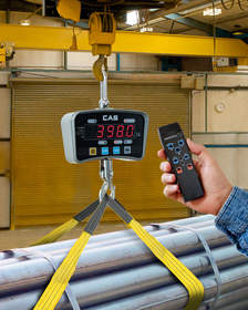 The Alliance/CAS IE Series Crane Scale with wireless remote