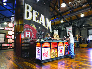 The new Jim Beam American Stillhouse is two stories of all things Beam. Officially unveiled on October 3 in honor of Beam's one-year anniversary as a publicly traded standalone company, the Jim Beam American Stillhouse immerses visitors in more than 217 years of Beam family heritage and treats guests to a one-of-a-kind sensory experience unlike any other Bourbon distillery.