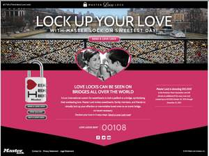 With the release of www.MasterLoveLock.com, sweethearts, family members and friends alike can virtually lock up their affection for loved ones, simultaneously benefitting a great cause by helping generate donations to the American Heart Association.