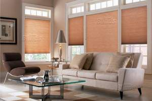Cellular shades have light filtering and room darkening qualities