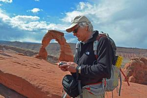 Outdoor author, Peter Potterfield, uses Magellan eXplorist GPS receiver on hiking adventures.