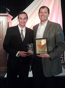 Dustin Klein and Jim Laber at the 2012 Cascade Capital Business Growth Awards.