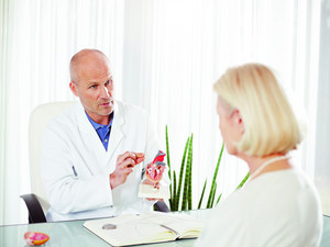 A patient consults her physician