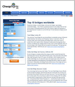Cheapflights.ca Top 10 Bridges Worldwide