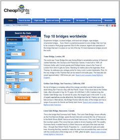 Cheapflights.ca Top 10 Bridges Worldwide