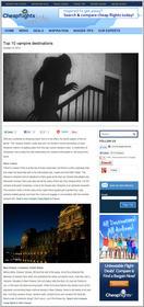 Cheapflights.com Top 10 Vampire Destinations