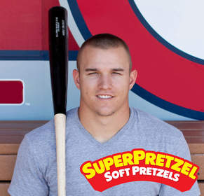 Mike Trout, MLB player, for SUPERPRETZEL Soft Pretzels