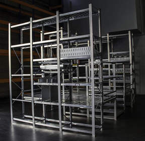 This Metalsistem Mezzanine features both the UNIRACK and Super 1-2-3 shelving products.  Click here to see the video on Metalsistem shelving Hannibal Industries released today: http://www.youtube.com/watch?v=BTOWzT1aOkk.