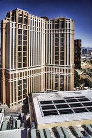 solar, thermal, solar panels, The Palazzo, Las Vegas, sustainability, Las Vegas Sands