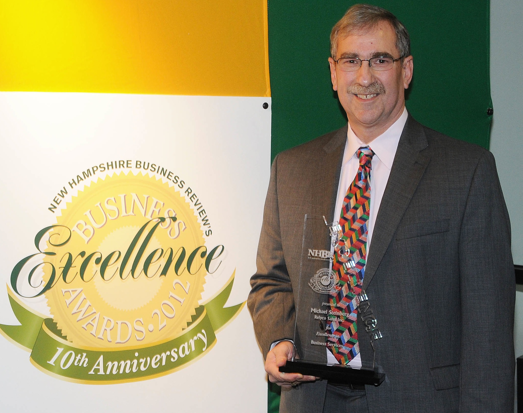 Michael Steinberg, President and CEO of Relyco, Receives New Hampshire Business Excellence Award