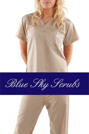 blue sky co. handmade uniforms