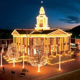 Holiday lights in Arkansas