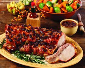 Pork Roast with Spicy Cranberry-Orange Glaze