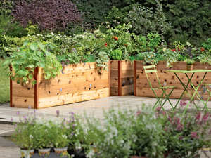 holiday gifts, comfort and value, gardening gifts, elevated raised beds, raised beds