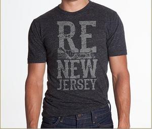 Socialaundry's ReNew Jersey clothing line includes a selection of men's and women's T-shirts, and sweatshirts that are made in the USA.  All net proceeds will be donated to the Hurricane Sandy New Jersey Relief Fund.