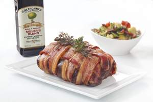 Snake River Farms tenderloin roast with California Olive Ranch olive oil offers a sophisticated take on a classic favorite.
