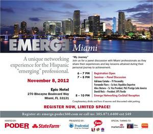 Emerge Hispanic Networking Series, hosted by PODER Hispanic Magazine in Miami.