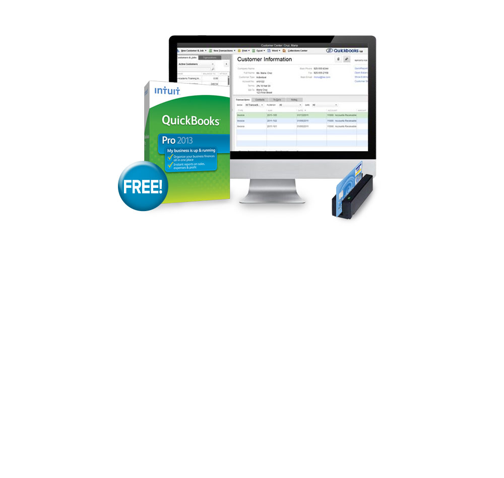 QuickBooks, Credit card processing, merchant services, mobile payment solutions