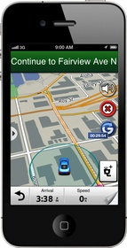 Glympse is seamlessly integrated into Garmin's StreetPilot navigation app.
