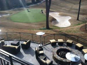 EPS Geofoam used as landscape fill to support new terrace at Country Club of the South.