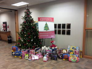 TopLine donates over 300 toys to local charities.