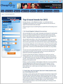 Cheapflights.ca Top 6 Travel Trend Predictions for 2013
