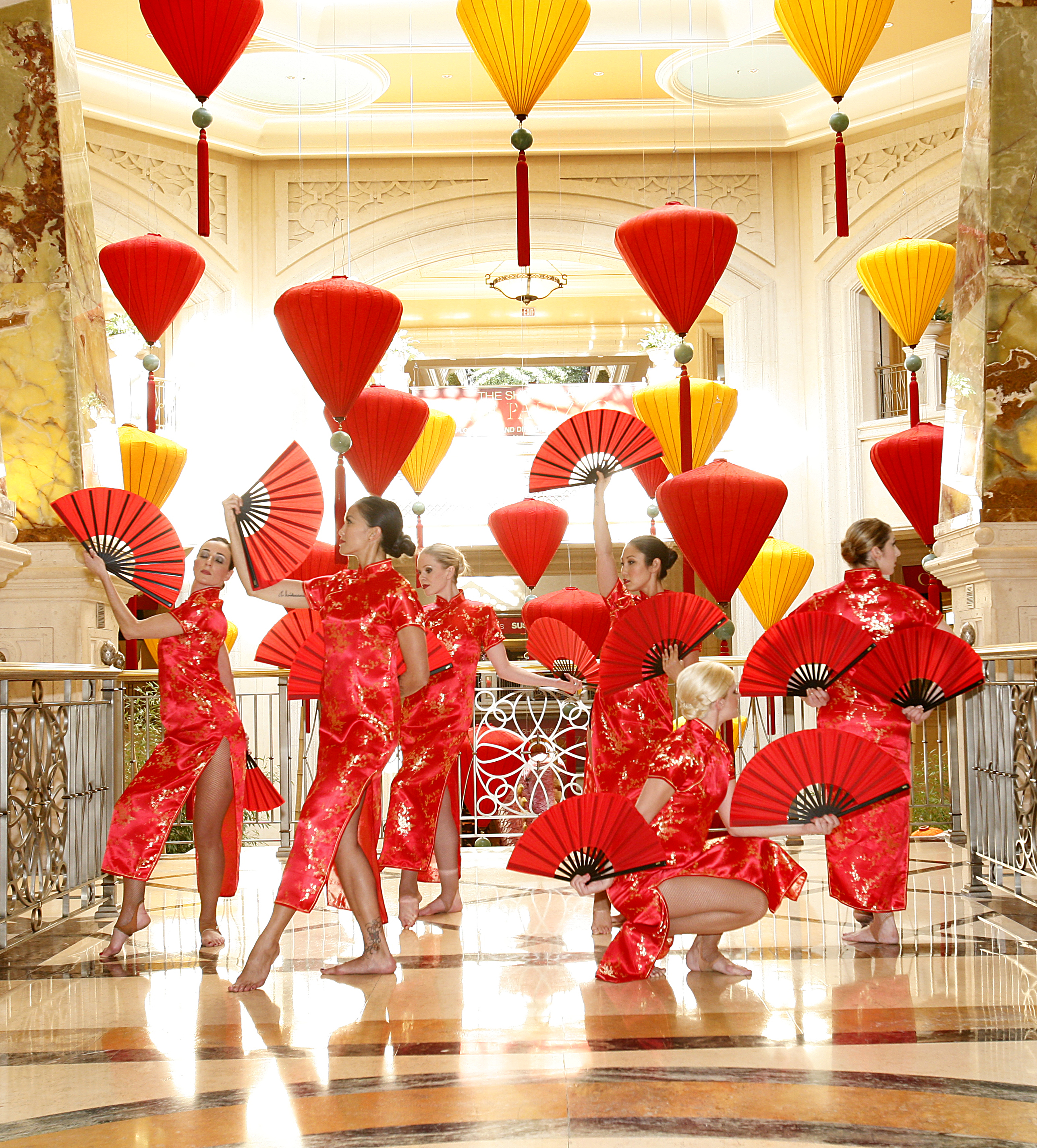 Traditional Chinese New Year Fan Dance