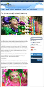 Cheapflights.com Top 10 Things to Bring for a Mardi Gras Getaway