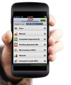 Lot Management Smart Phone Screen