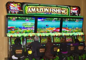 Barona resort casino is first in north america to debut for Fish slot machine