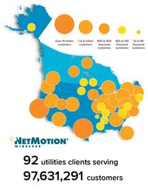 NetMotion Wireless' 92 utility customers serve nearly 100 million patrons
