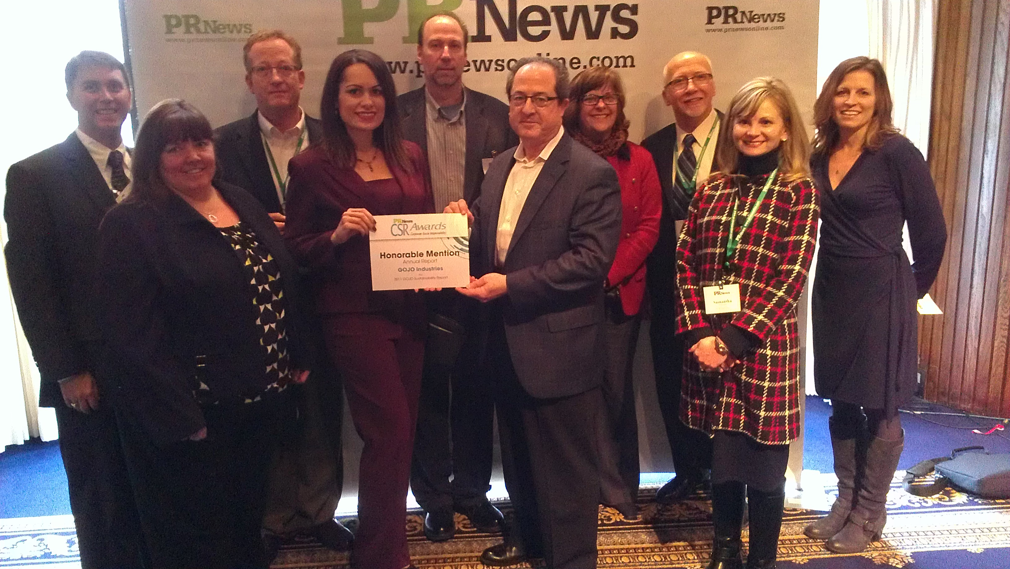 GOJO Industries, Inc. and  Innis Maggiore attend the PR News CSR Awards
