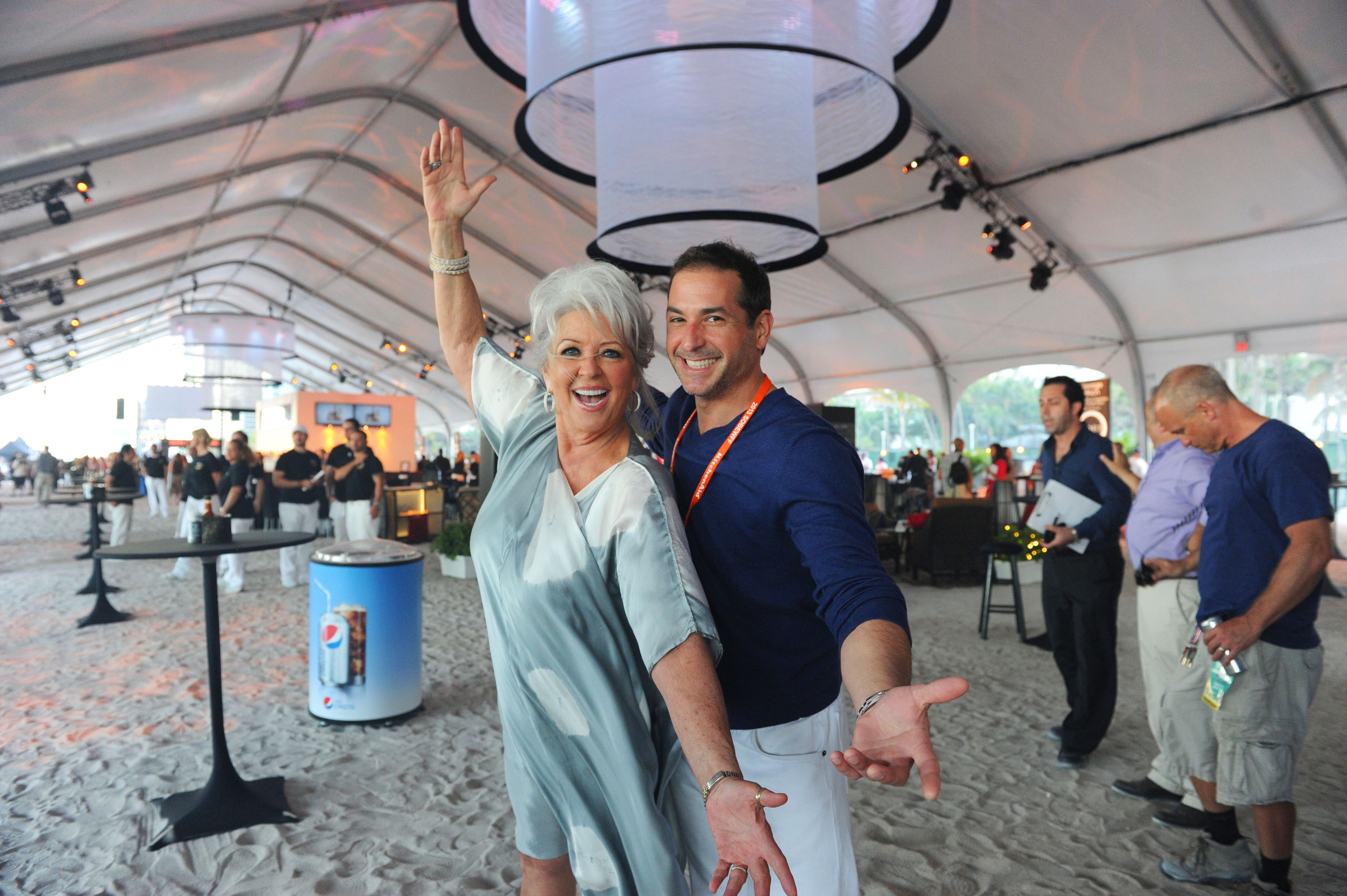 Paula and Bobby Deen at the Food Network South Beach Wine & Food Festival