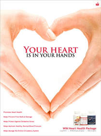 Support your heart with Wellness International Network's heart health package.